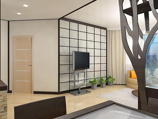 Дизайн двухкомнатной квартиры 62 кв. м в современном стиле. Фото 012