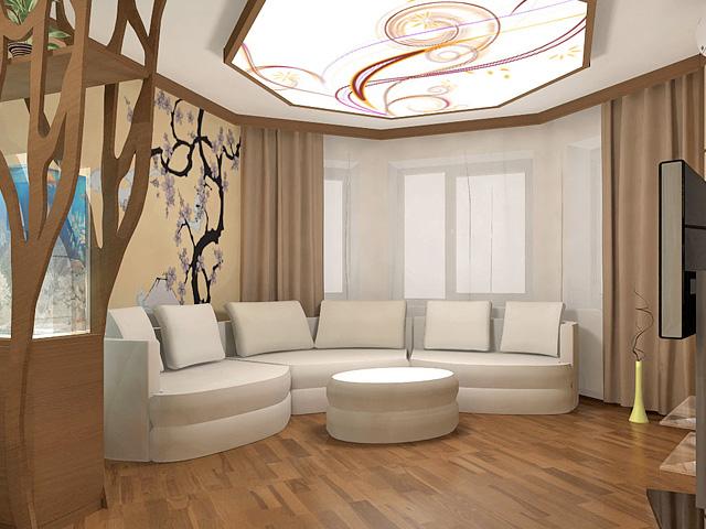 Дизайн двухкомнатной квартиры 62 кв. м в современном стиле. Фото 013