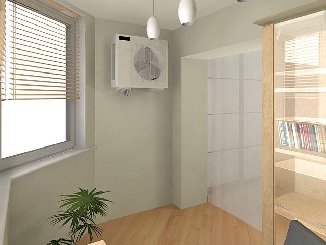 Дизайн двухкомнатной квартиры 62 кв. м в современном стиле. Фото 014
