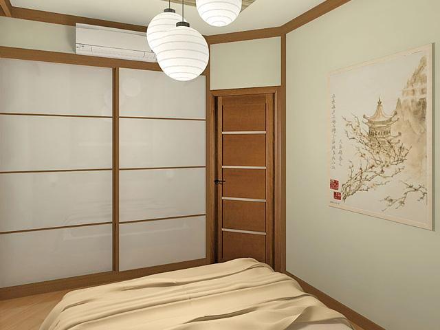Дизайн двухкомнатной квартиры 62 кв. м в современном стиле. Фото 015