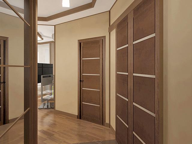 Дизайн двухкомнатной квартиры 62 кв. м в современном стиле. Фото 018