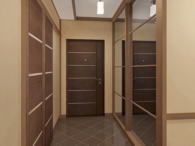 Дизайн двухкомнатной квартиры 62 кв. м в современном стиле. Фото 019