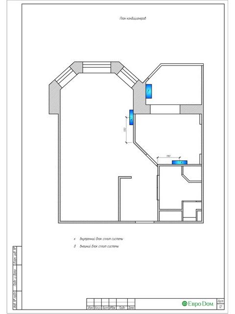 Дизайн двухкомнатной квартиры 62 кв. м в современном стиле. Фото 021