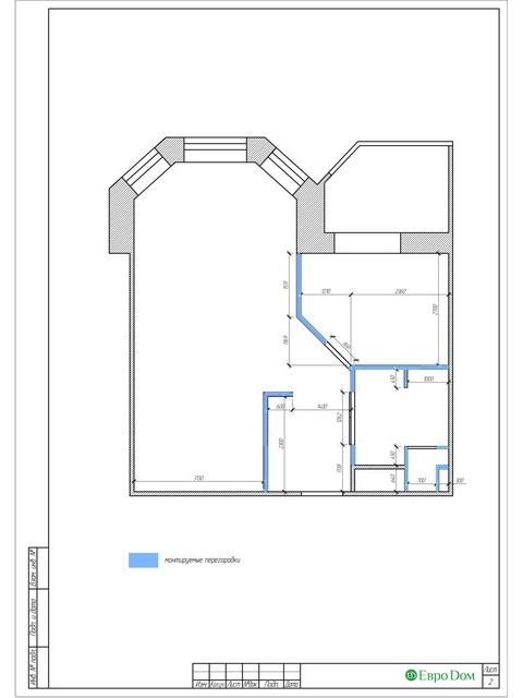 Дизайн двухкомнатной квартиры 62 кв. м в современном стиле. Фото 023