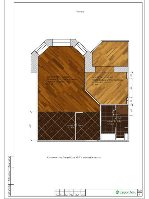 Дизайн двухкомнатной квартиры 62 кв. м в современном стиле. Фото 026