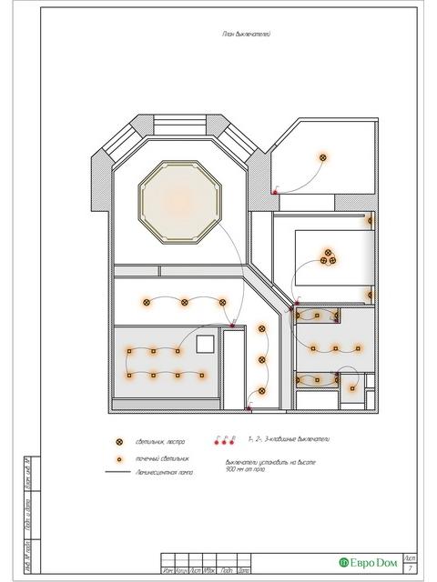 Дизайн двухкомнатной квартиры 62 кв. м в современном стиле. Фото 028