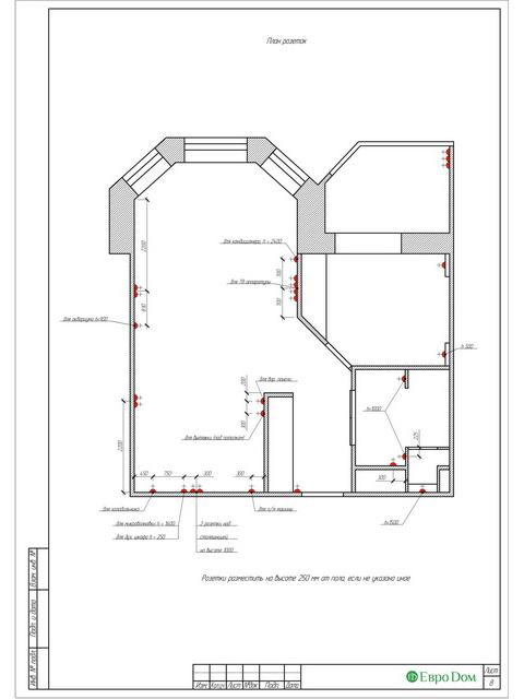 Дизайн двухкомнатной квартиры 62 кв. м в современном стиле. Фото 031