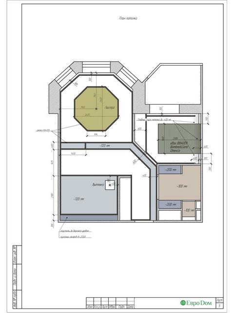 Дизайн двухкомнатной квартиры 62 кв. м в современном стиле. Фото 032