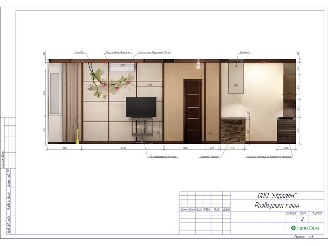 Дизайн двухкомнатной квартиры 62 кв. м в современном стиле. Фото 035