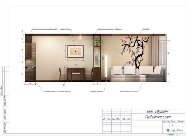 Дизайн двухкомнатной квартиры 62 кв. м в современном стиле. Фото 036