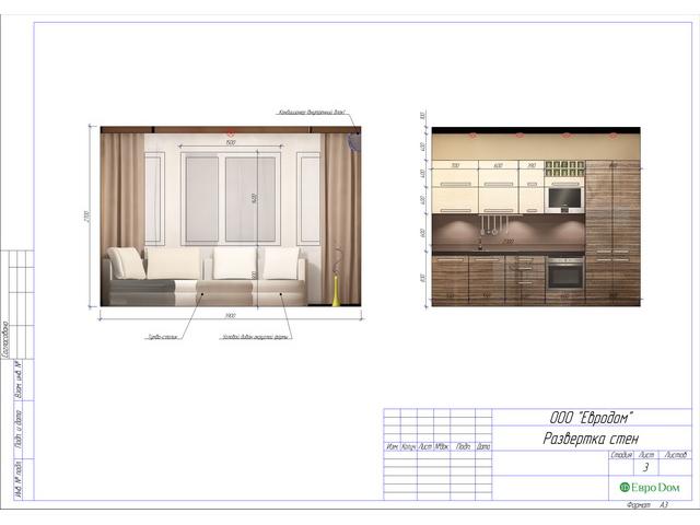 Дизайн двухкомнатной квартиры 62 кв. м в современном стиле. Фото 037