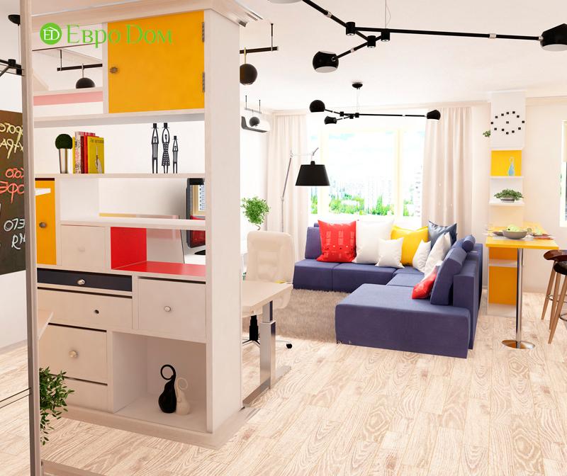 Дизайн двухкомнатной квартиры 63 кв. м в современном стиле. Фото 02