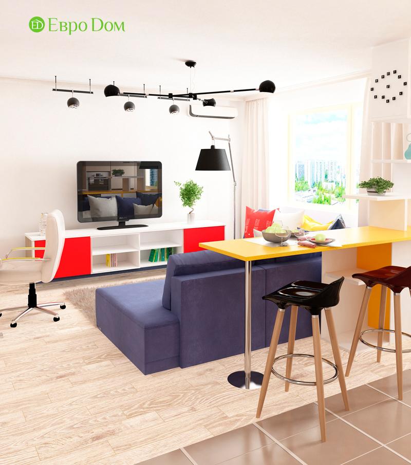 Дизайн двухкомнатной квартиры 63 кв. м в современном стиле. Фото 03