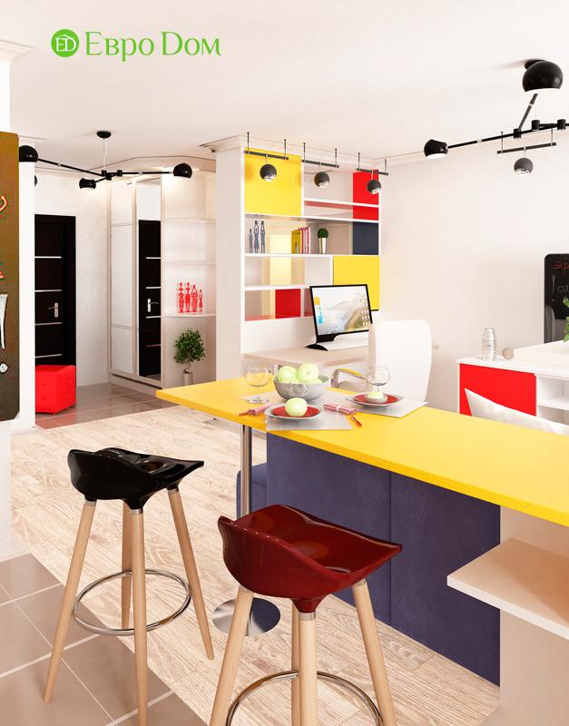 Дизайн двухкомнатной квартиры 63 кв. м в современном стиле. Фото 04