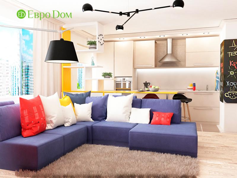 Дизайн двухкомнатной квартиры 63 кв. м в современном стиле. Фото 07