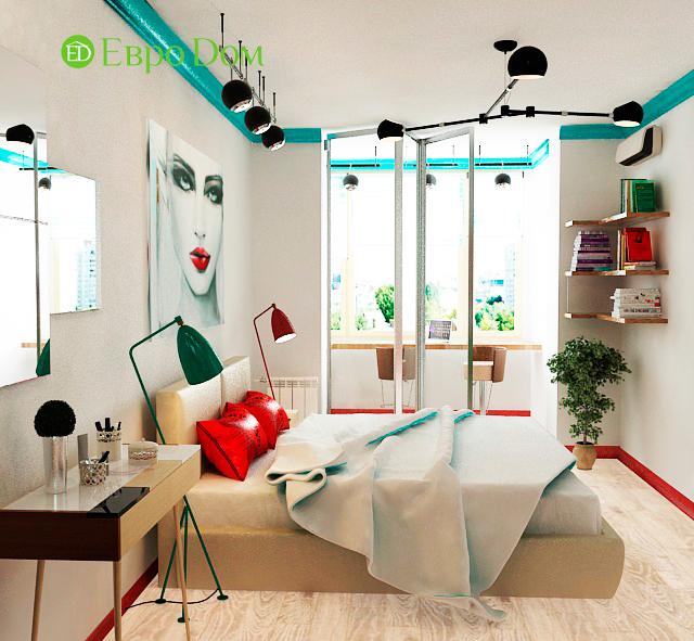 Дизайн двухкомнатной квартиры 63 кв. м в современном стиле. Фото 08