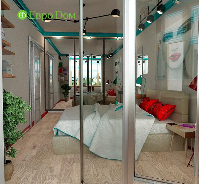 Дизайн двухкомнатной квартиры 63 кв. м в современном стиле. Фото 09