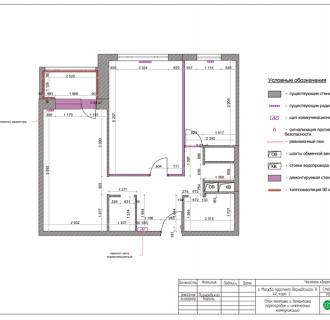 Дизайн двухкомнатной квартиры 63 кв. м в современном стиле. Фото проекта