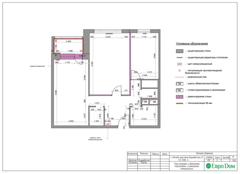 Дизайн двухкомнатной квартиры 63 кв. м в современном стиле. Фото 011