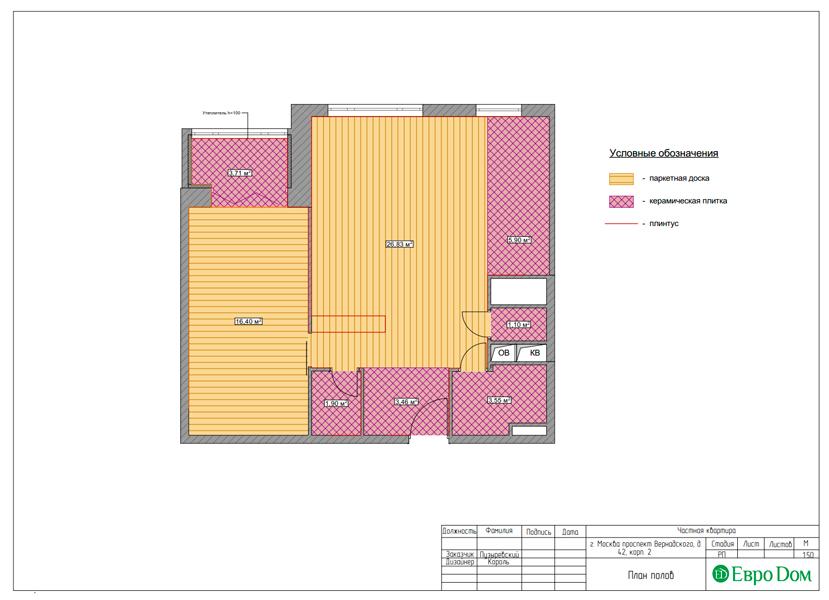 Дизайн двухкомнатной квартиры 63 кв. м в современном стиле. Фото 017