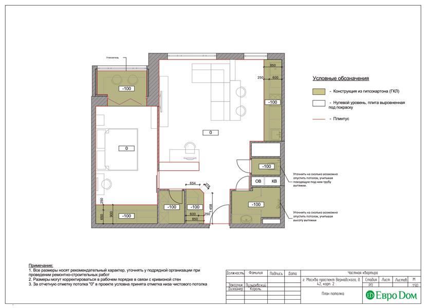 Дизайн двухкомнатной квартиры 63 кв. м в современном стиле. Фото 023