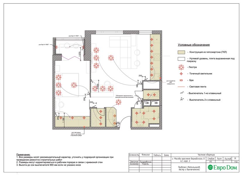 Дизайн двухкомнатной квартиры 63 кв. м в современном стиле. Фото 025