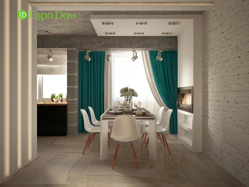 На фото: столовая и кухонное помещение в стиле лофт