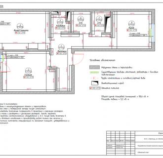 Дизайн двухкомнатной квартиры 61 кв. м в стиле прованс. Фото проекта