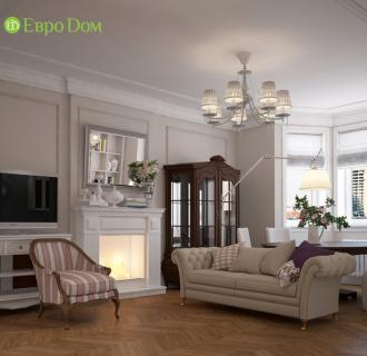 Дизайн интерьера трехкомнатной квартиры 108 кв. м в стиле прованс. Фото проекта