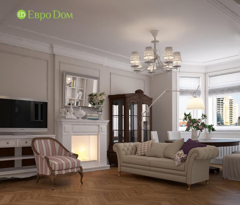 Дизайн интерьера трехкомнатной квартиры 100 кв. м в стиле прованс. Фото 04