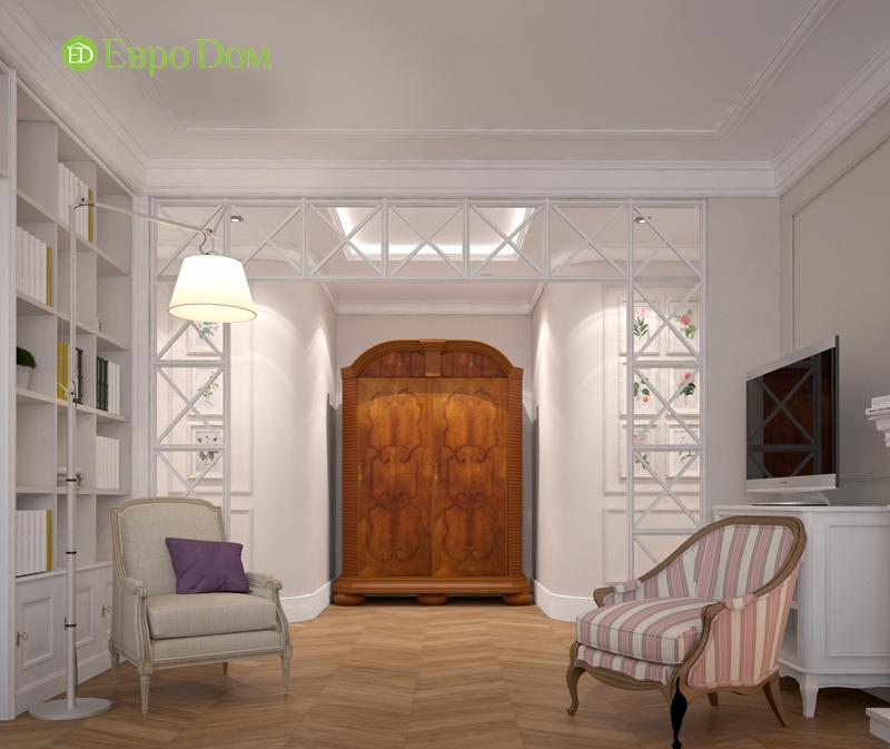 Дизайн интерьера трехкомнатной квартиры 100 кв. м в стиле прованс. Фото 05