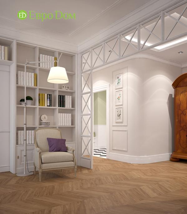 Дизайн интерьера трехкомнатной квартиры 100 кв. м в стиле прованс. Фото 06