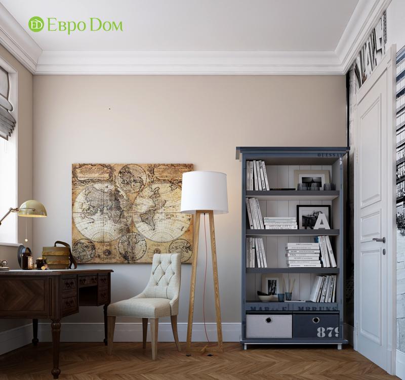 Дизайн интерьера трехкомнатной квартиры 100 кв. м в стиле прованс. Фото 08