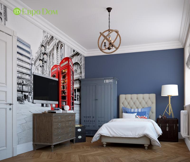 Дизайн интерьера трехкомнатной квартиры 100 кв. м в стиле прованс. Фото 09