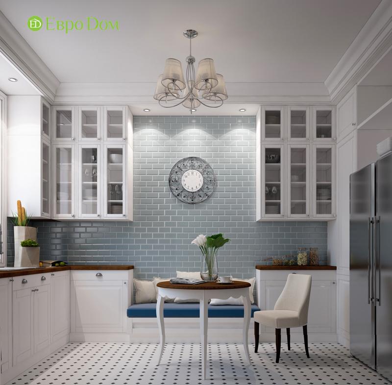 Дизайн интерьера трехкомнатной квартиры 100 кв. м в стиле прованс. Фото 010