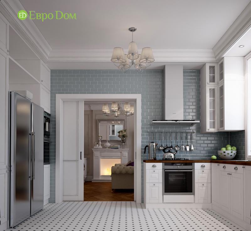 Дизайн интерьера трехкомнатной квартиры 100 кв. м в стиле прованс. Фото 011