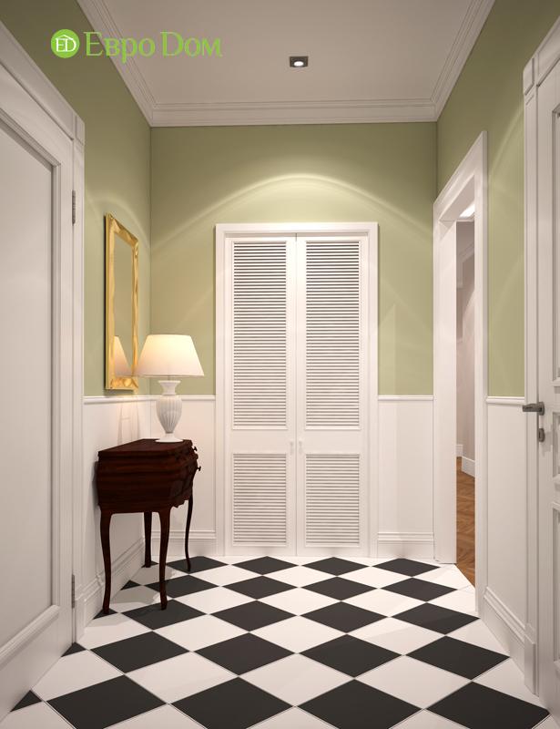 Дизайн интерьера трехкомнатной квартиры 100 кв. м в стиле прованс. Фото 012