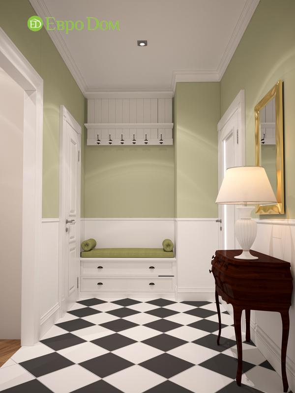 Дизайн интерьера трехкомнатной квартиры 100 кв. м в стиле прованс. Фото 014