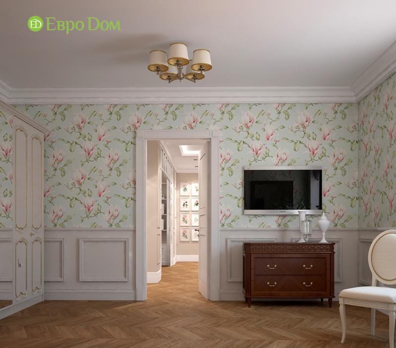 Дизайн интерьера трехкомнатной квартиры 100 кв. м в стиле прованс. Фото 015