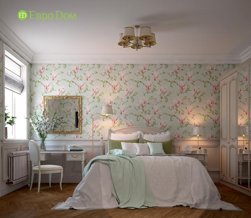 Дизайн интерьера трехкомнатной квартиры 100 кв. м в стиле прованс. Фото 016
