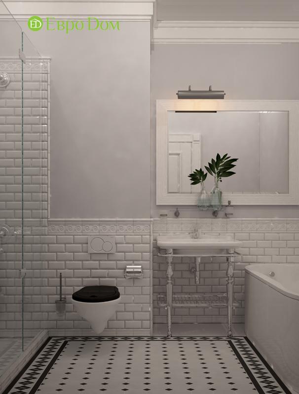 Дизайн интерьера трехкомнатной квартиры 100 кв. м в стиле прованс. Фото 017