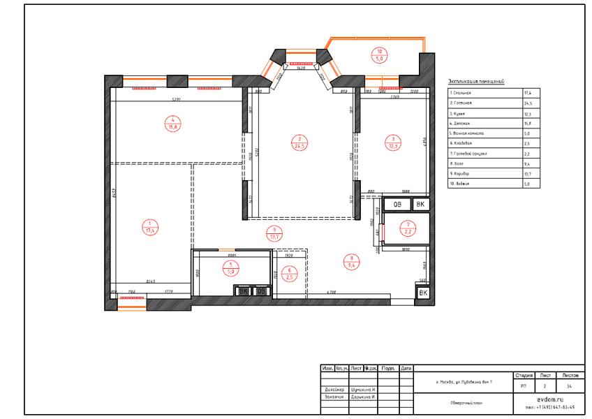 Дизайн интерьера трехкомнатной квартиры 100 кв. м в стиле прованс. Фото 021