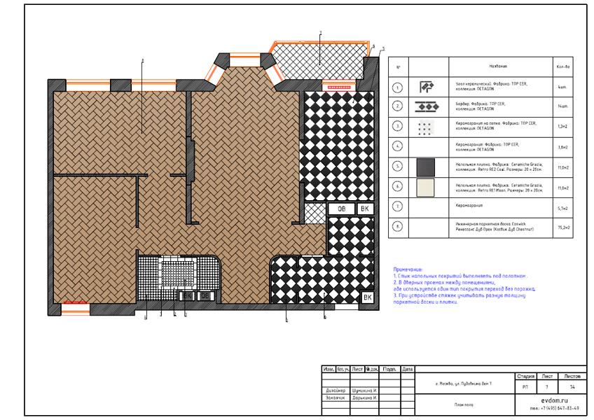Дизайн интерьера трехкомнатной квартиры 100 кв. м в стиле прованс. Фото 025