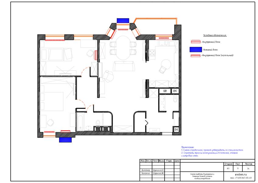 Дизайн интерьера трехкомнатной квартиры 100 кв. м в стиле прованс. Фото 029