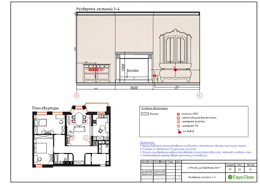 Дизайн интерьера трехкомнатной квартиры 100 кв. м в стиле прованс. Фото 038