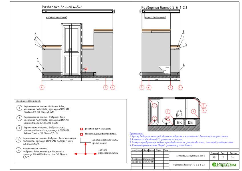 Дизайн интерьера трехкомнатной квартиры 100 кв. м в стиле прованс. Фото 044