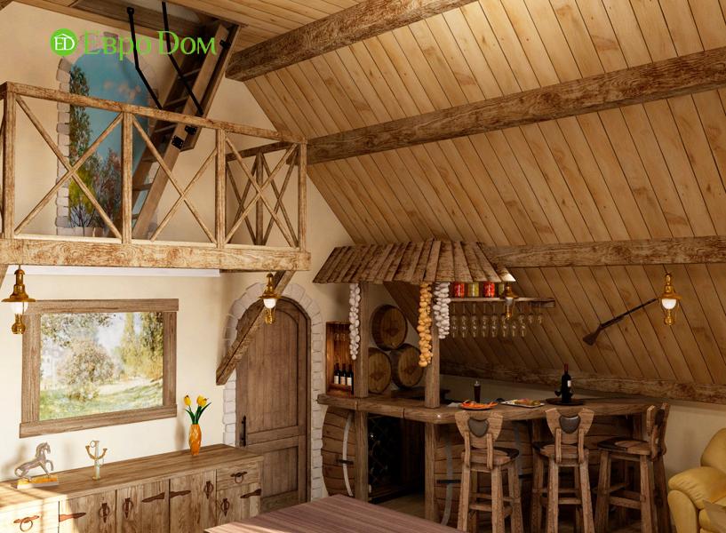 Дизайн интерьера коттеджа 434 кв. м в деревенском стиле. Фото 03