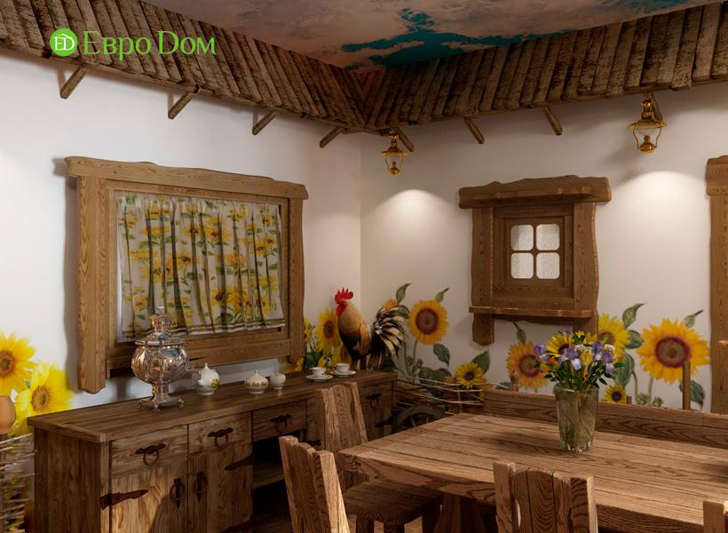 Дизайн интерьера коттеджа 434 кв. м в деревенском стиле. Фото 04