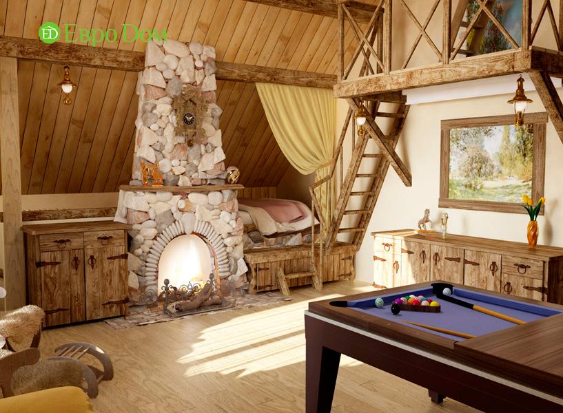 Дизайн интерьера коттеджа 434 кв. м в деревенском стиле. Фото 05