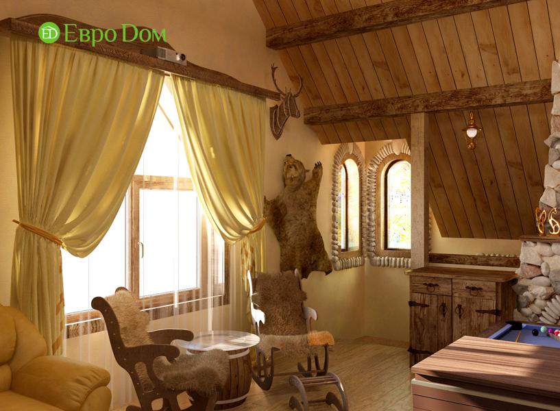 Дизайн интерьера коттеджа 434 кв. м в деревенском стиле. Фото 06